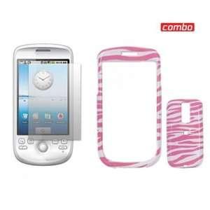 HTC G2 Combo Pink/White Zebra Design Protective Case