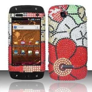 FALL FLOWERS Hard Plastic Rhinestone Bling Case for Samsung Sidekick