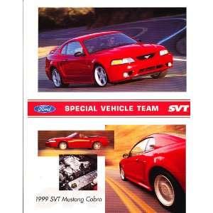 1999 Ford Mustang SVT Cobra Original Sales Brochure Sheet