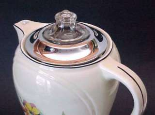 HALL CHINA ~ Fuji Pattern ~ FORMAN BROS 13 Electric Percolator Coffee