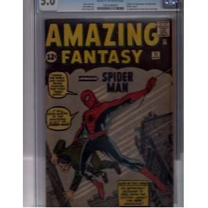 Amazing Fantasy #15 First Spiderman CGC 5.0 (Looks Better