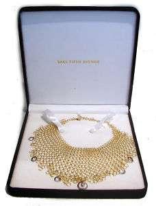 ORLANDINI YELLOW & WHITE GOLD MESH NECKLACE