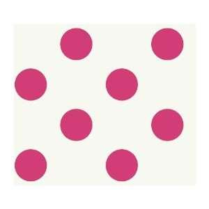Just Kids KD1863 Large Polka Dot Wallpaper, Pink
