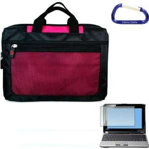 Premium Nylon (Hot Pink) Laptop Carrying Case and 10 Inch