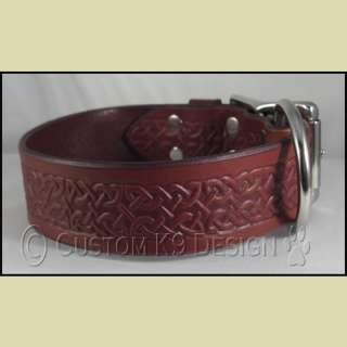 NEW Celtic Leather Dog Collar MD 3XL Black, Brown, Tan