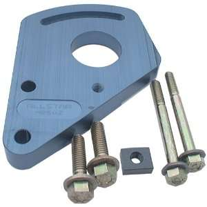 Blue Anodized Aluminum Block Mount Power Steering Pump Bracket Kit