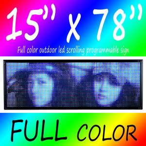 15x78 LED MOVING SCROLLING SIGN BOARD (FULL COLOR)
