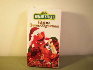 Sesame Street ELMO SAVES CHRISTMAS Childrens VHS TAPE 074644994032