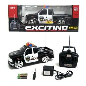 14 Scale RC FORD F 350 POLICE TRUCK CAR REMOTE CONTROL KIDS TOYS RC