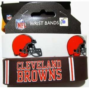NFL Cleveland Browns Football Silicone Rubber Wrist Bands Bracelets