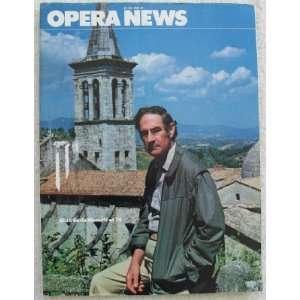 Opera News Magazine. June 1981. Single Issue Magazine