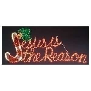Jesus Is The Reason Ropelight Christmas Yard Decoration