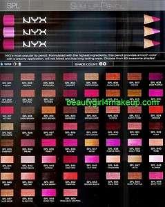 NYX Cosmetics Slim Lip Liner Lipliner Pencil 3 pcs New