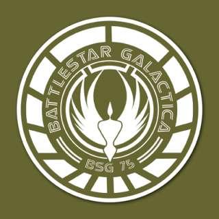 Battlestar Galactica Emblem Logo Vinyl Sticker VLBSGA