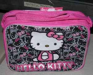 the gameking auctions presents hello kitty pink black lunch box bag