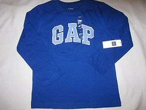 NWT Boys Baby Gap Logo Royal Blue L/S T shirt Sz 5T