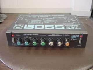 BOSS RCL 10 Compressor Limiter Gate half rack effect 100% working
