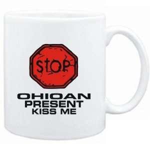 Mug White  STOP  Ohioan START KISSING  Usa States