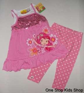 Girls 4 5 6 Set OUTFIT Shirt Top Pants Leggings Capris