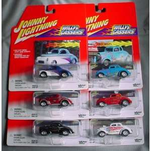 Johnny Lightning Willy Gassers 6 Car Set Willys Gassers Toys & Games
