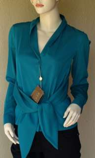 GUCCI Auth New Womens Silk Top Shirt Blouse size 4   40