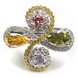 NATURAL DIAMOND 8 CT PINK MORGANITE & DIAMOND RING
