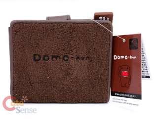 Domo Kun Plush Wallet Bi Fold NHK Licensed Red Leather