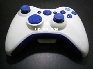 Blue w Letters ABXY A B x Y Guide Button Set for Xbox 360 Controller