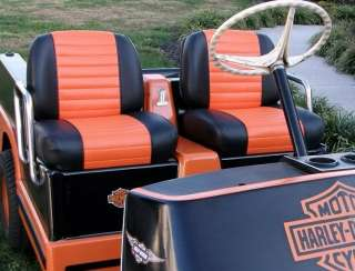 Harley davidson golf cart seat on sun mountain carts, columbia carts, stealth carts, carolina carts,