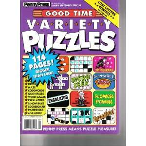 GOOD TIME VARIETY PUZZLES PENNYPRESS Books