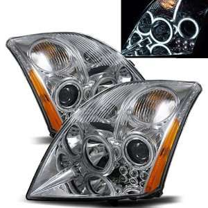 2007 2011 Nissan Sentra CCFL Halo Projector Headlights /w Amber (Black