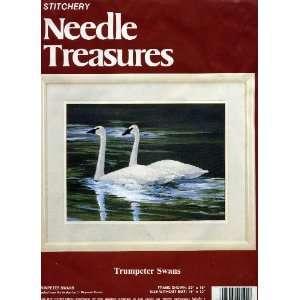 Swans (Stitchery Kit) (Needle Treasures, 00591) Maynard Reece Books