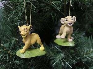 The Lion King Simba & Nala Christmas Ornament Set
