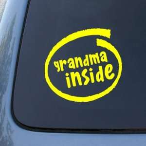 GRANDMA INSIDE   Grandmother   Vinyl Car Decal Sticker #1887  Vinyl