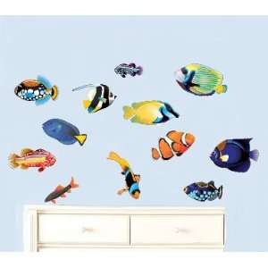 12 Fish Vinyl Wall Decal Great for Any Nursery Kids Room of Any Wall