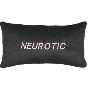 C797B.10x16 Inch Charcoal Gray Cashmere Blend Saying Pillow   Neurotic