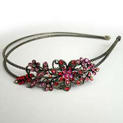Headbands Butterfly Flower Hair Bands Crystal Head Beads Cubic
