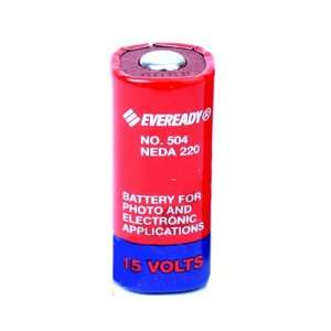 : 504 Eveready M504 15 volts NEDA 220 Single Battery: Camera & Photo