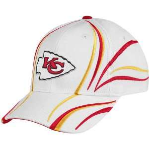 Reebok Kansas City Chiefs White Airstream Adjustable Hat
