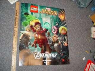 Marvel LEGO Avengers 2012 Movie Poster Thor Hulk Iron Man Captain