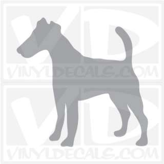 Smooth Fox Terrier Dog Vinyl Decal Sticker Car Window Wall