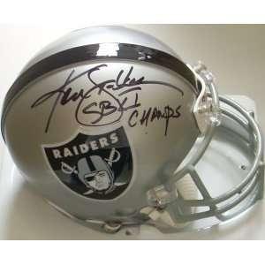 Ken Stabler Signed Mini Helmet   Authentic   Autographed