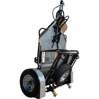 New Drop Tail Folding Upright Single Motorcycle Trailer