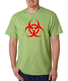 Biohazard Hazmat Hazard Symbol 100% Cotton Tee Shirt