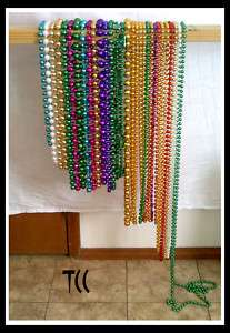Mardi Gras Beads 30 Pair Long and Fat Box 5