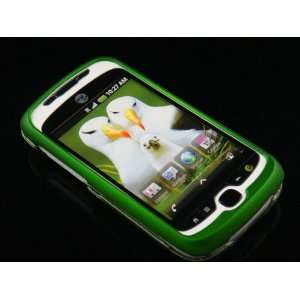 GREEN Hard Rubber Feel Plastic Case for HTC myTouch Slide