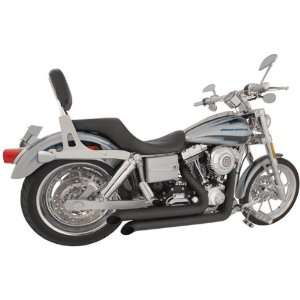 Declaration Turn Out Black Exhaust for 1991 2005 Harley Davidson Dyna