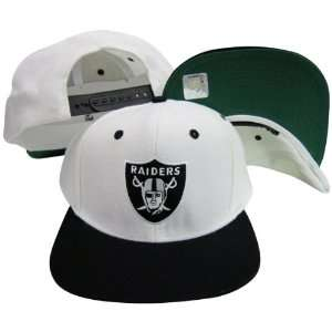 Oakland Raiders Logo White / Black Two Tone Plastic