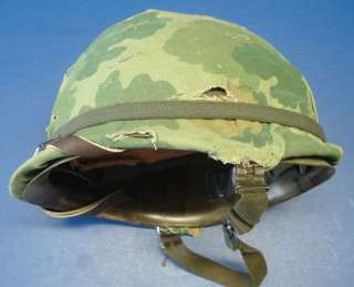 US M1 Vietnam Combat Helmet with Liner & Camo Cover
