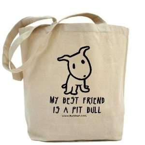 My Best Friend Dog Tote Bag by  Beauty